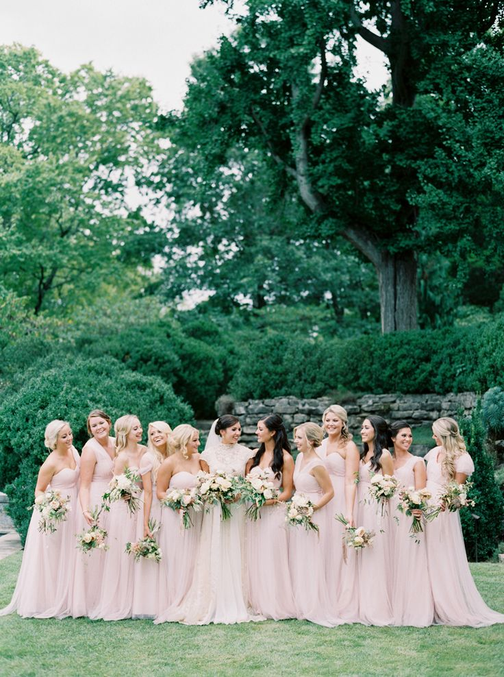 rose quartz bridesmaid dresses