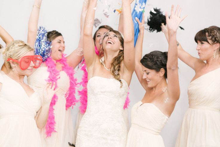 bridal party photo booth pic