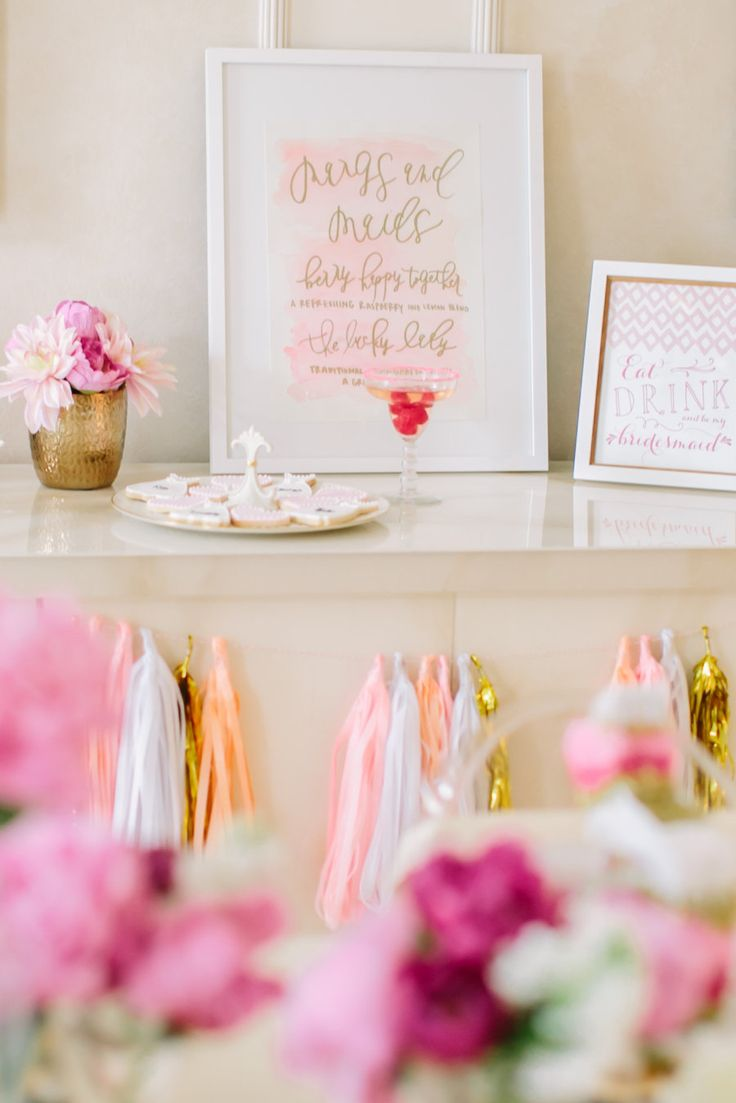 dress cookies and modern bridal shower sign