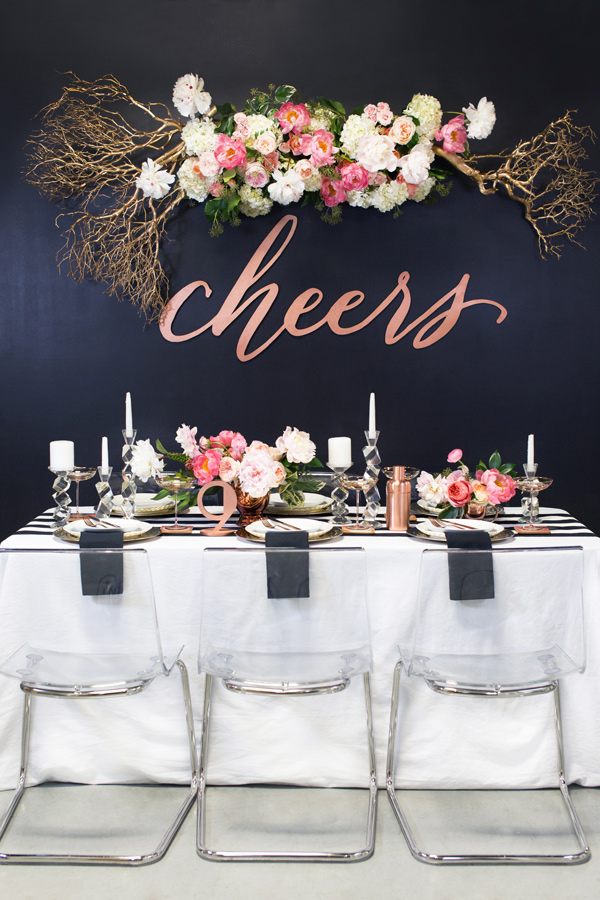 New Years Eve party tablescape