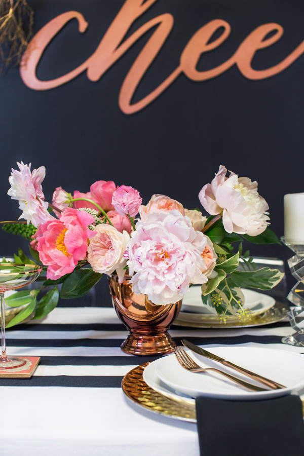 pink and black bachelorette party ideas