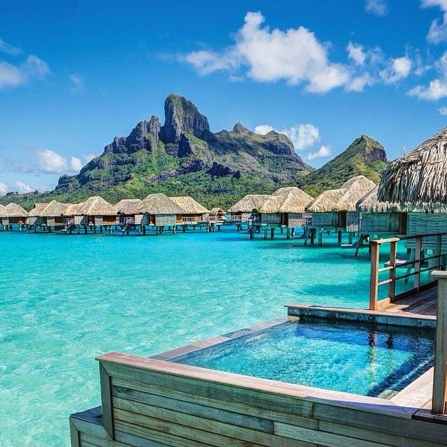 bora bora honeymoon destination, huts on water honeymoon