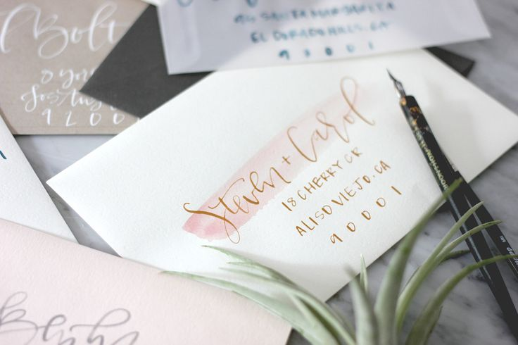 custom wedding invitation envelopes