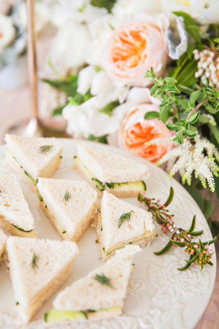 mini bridal shower sandwiches