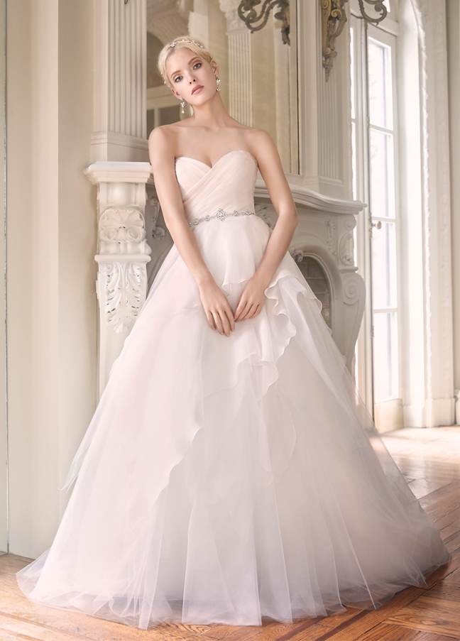 Alvina valenta spring collection it girl weddings for Silk organza wedding dress