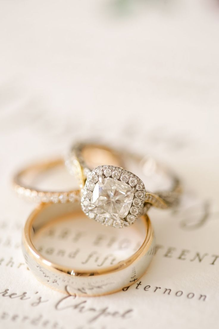 wedding rings, cushion cut engagement ring with halo