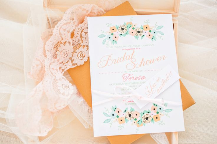 boudoir bridal shower invitation