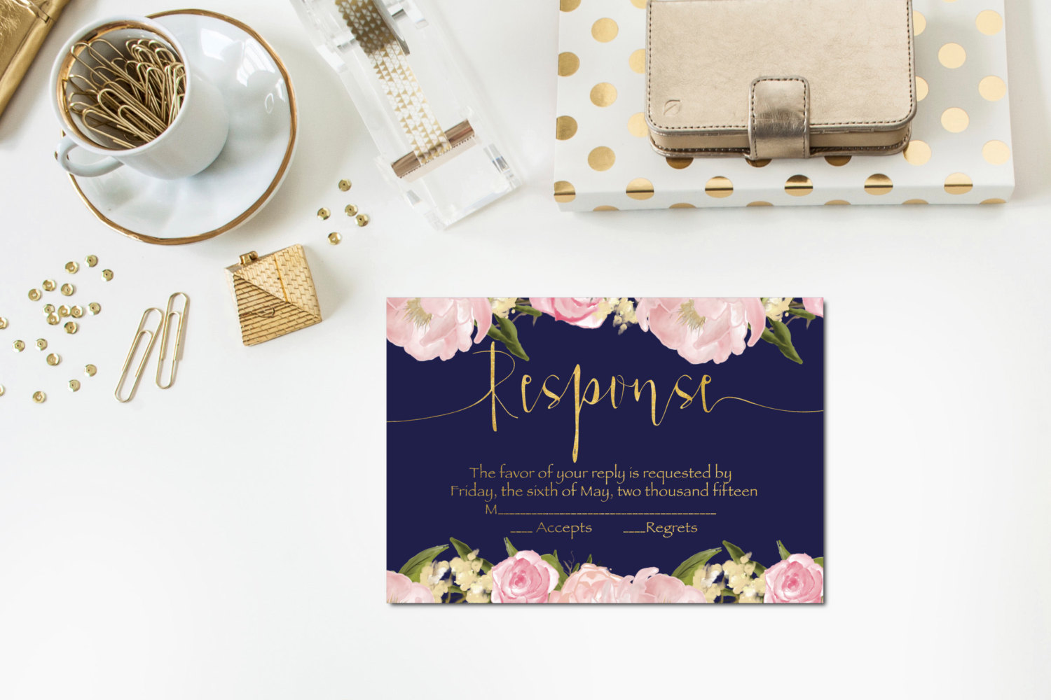 wedding response cards
