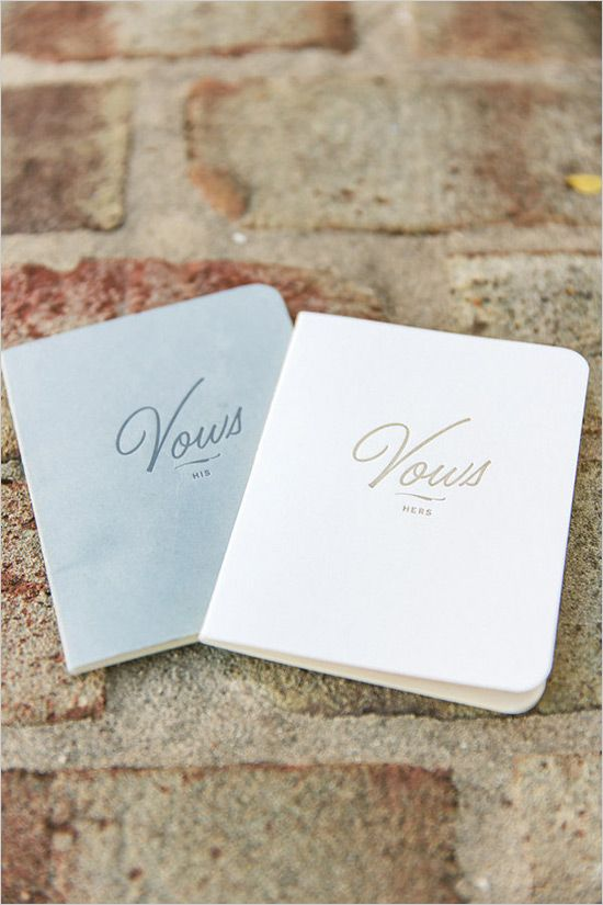 BHLDN wedding vow books