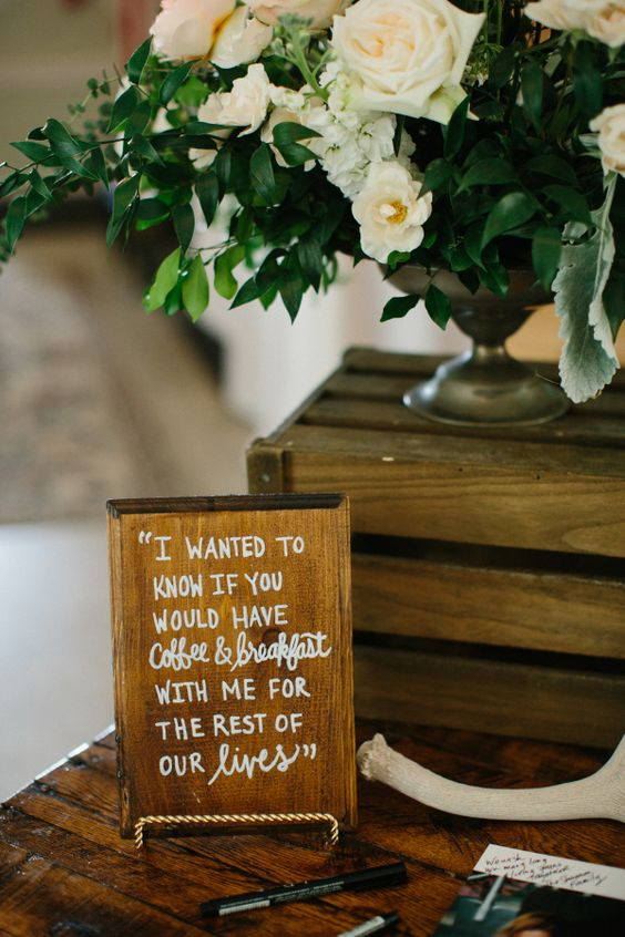 cute wedding sign