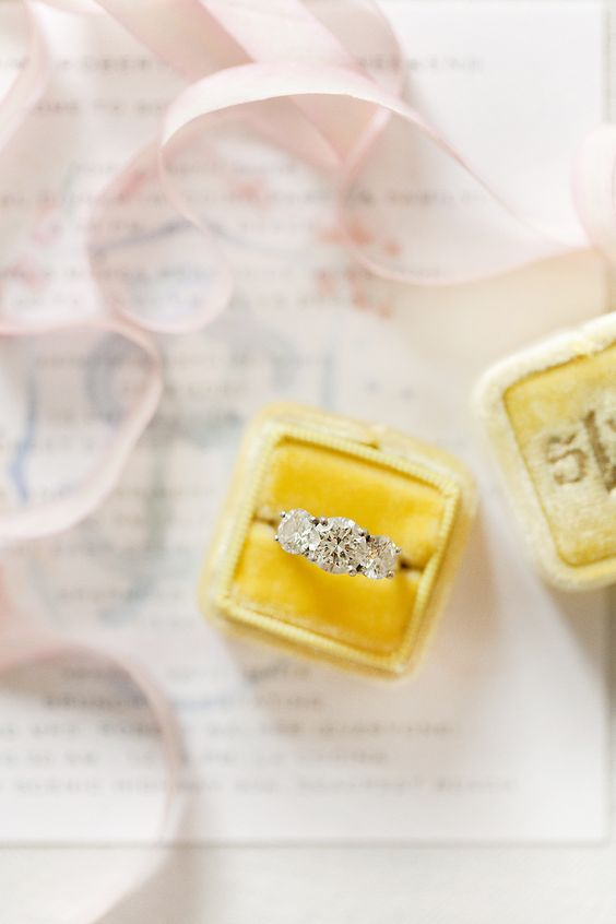 yellow-velvet-ring-box-with-engagement-ring