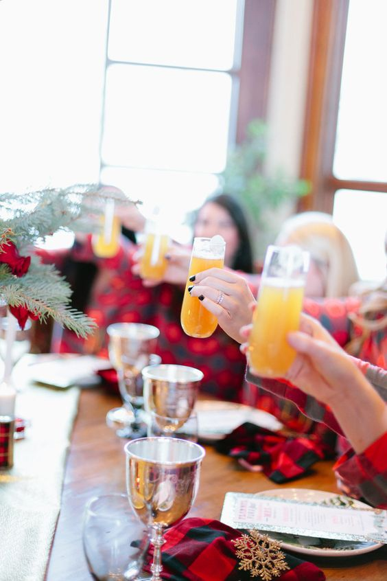 girls-in-flannel-pjs-toasting-mimosas