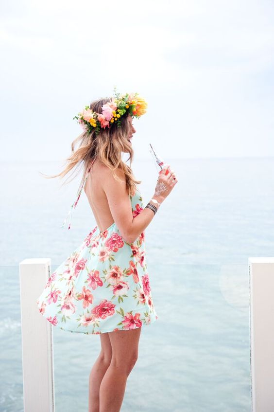 girl-in-flower-crown-and-floral-dress-at-beach-house