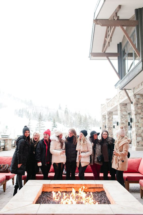 girls ski weekend for bachelorette party