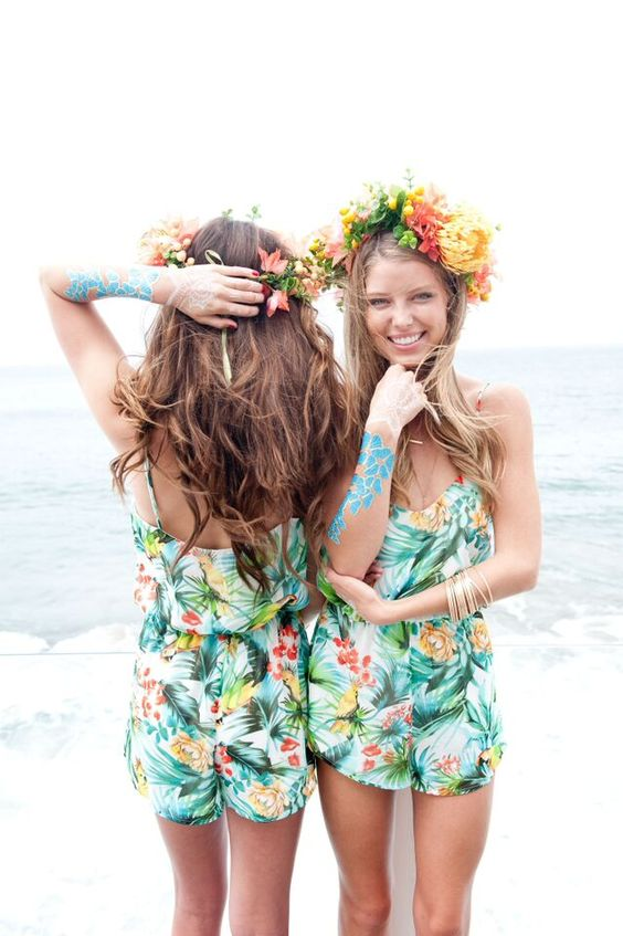 girls-at-bachelorette-party-in-flower-crowns-and-rompers