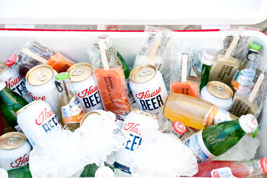 beer and popsicles in beer tub