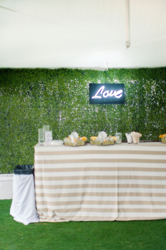 wedding-cocktail-table-with-love-marquee-letters