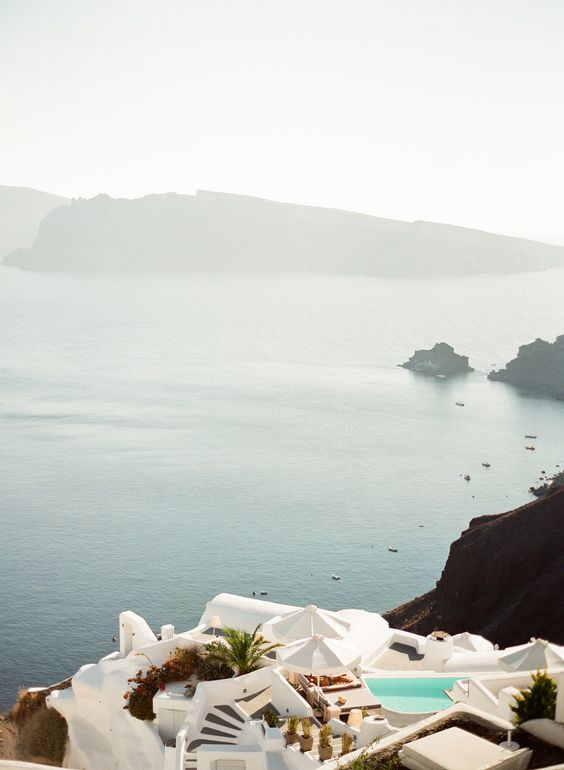 Santorini-ocean-view http://itgirlweddings.com/santorini-honeymoon-inspiration/