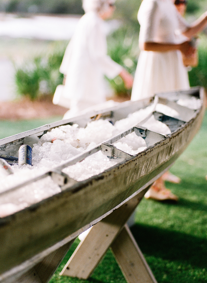silver-boat-beer-tub http://itgirlweddings.com/white-party-rehearsal-dinner/