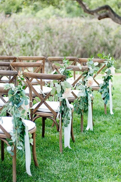 wedding-reception-chairs-with-greenery http://itgirlweddings.com/write-wedding-vows/