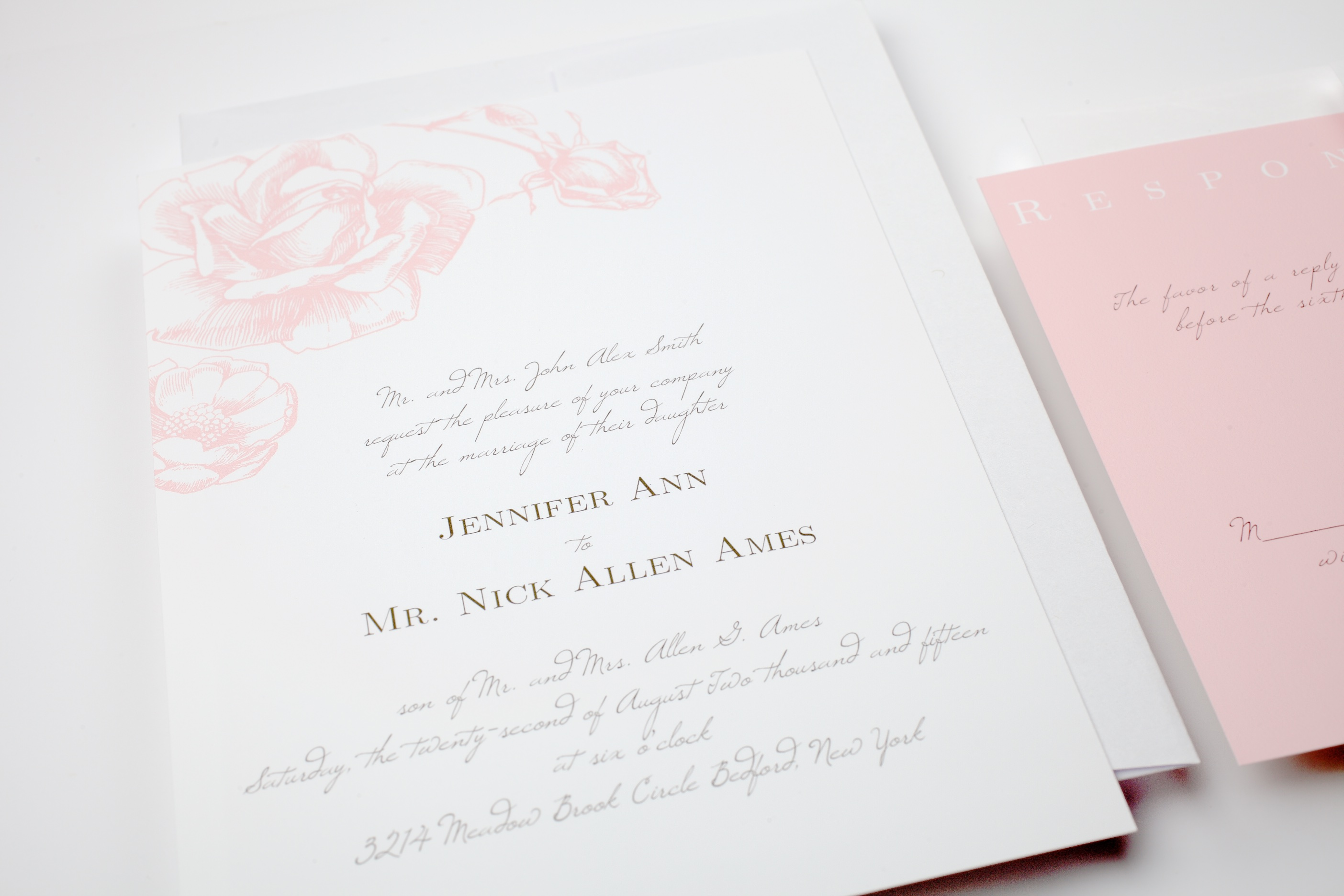 pink-roses-wedding-invitations http://itgirlweddings.com/new-collections-from-basic-invite/