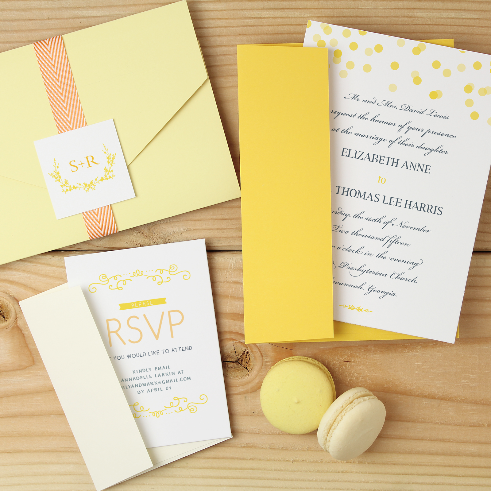 yellow-modern-wedding-invitations http://itgirlweddings.com/new-collections-from-basic-invite/