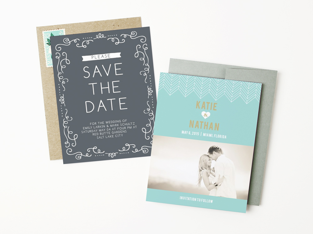 modern-blue-save-the-date-card http://itgirlweddings.com/new-collections-from-basic-invite/