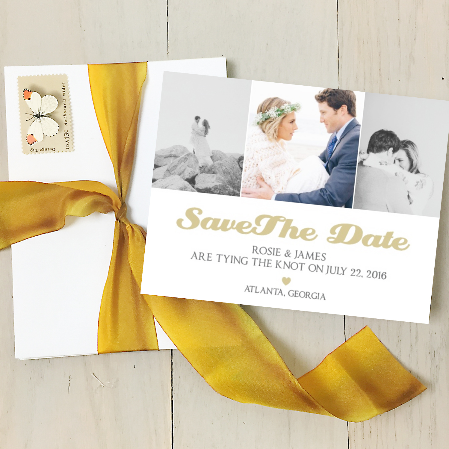 white-gold-picture-save-the-date-card http://itgirlweddings.com/new-collections-from-basic-invite/