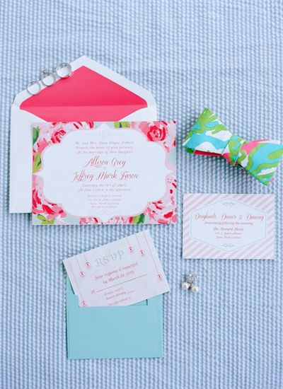 Host a kentucky derby bridal shower it girl weddings seersucker floral party invitations httpitgirlweddingshow filmwisefo