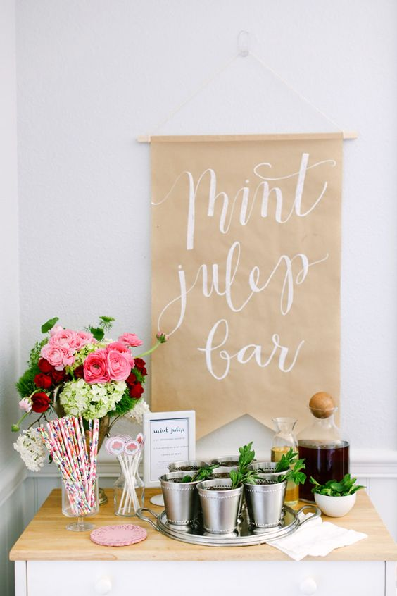 Mint Julep Bar Http Itweddings How To