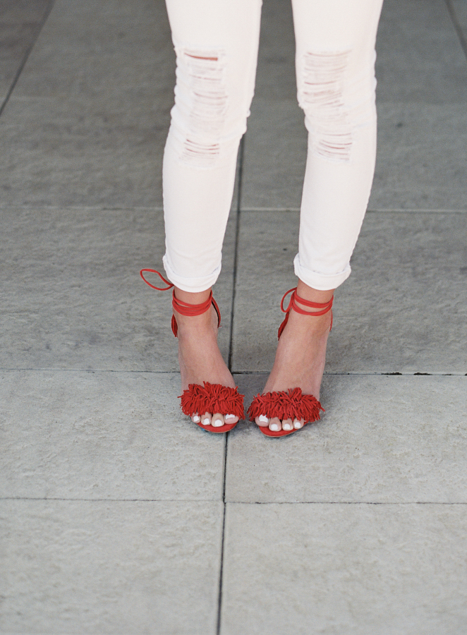 red-fringe-heels http://itgirlweddings.com/fiesta-themed-engagement-party/