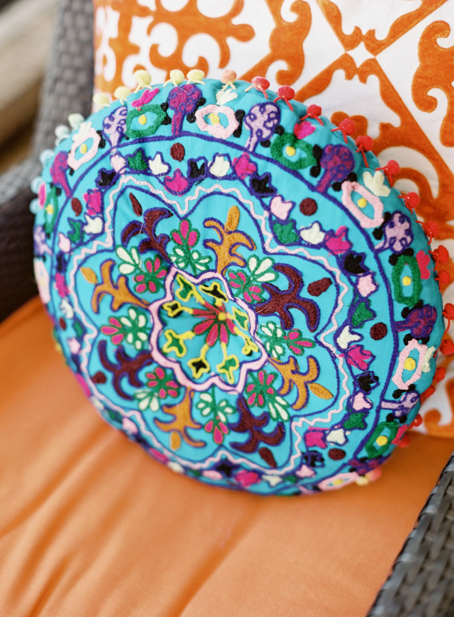 mexican-colorful-pillow http://itgirlweddings.com/fiesta-themed-engagement-party/