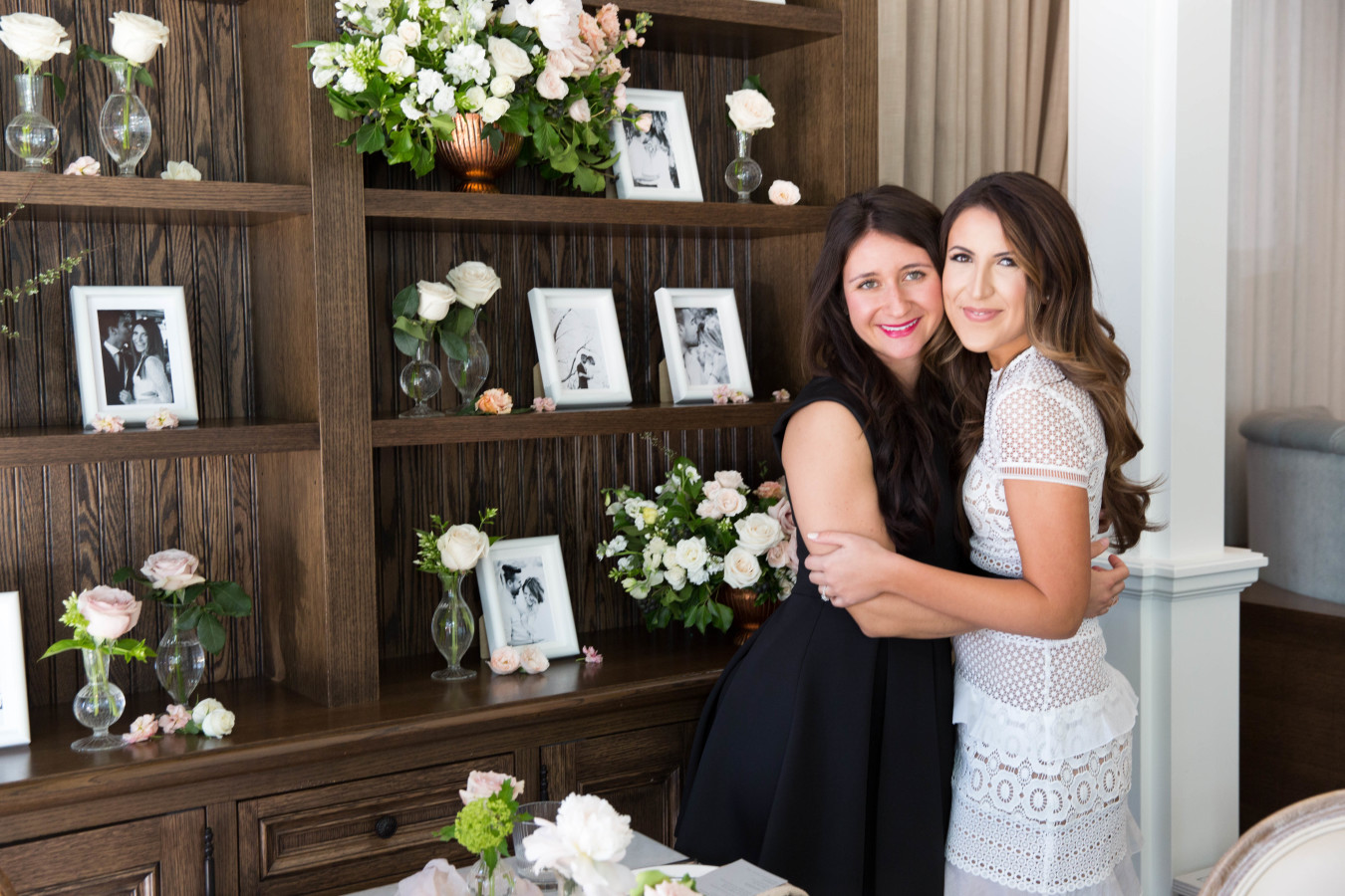 bride-moh-at-bridal-shower http://itgirlweddings.com/tips-for-creating-a-photo-worthy-bridal-shower/
