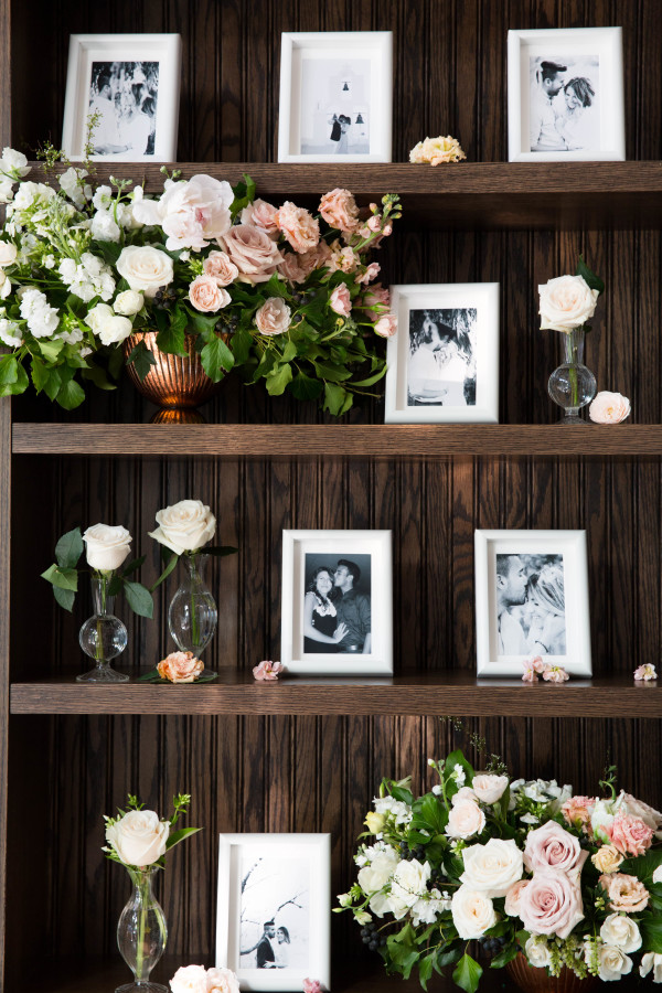 black-white-photos-framed-bridal-shower http://itgirlweddings.com/tips-for-creating-a-photo-worthy-bridal-shower/
