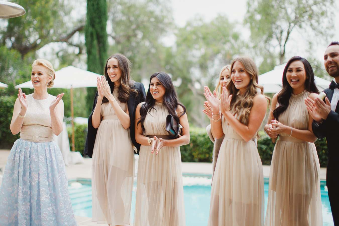 nude-long-bridesmaids-dresses