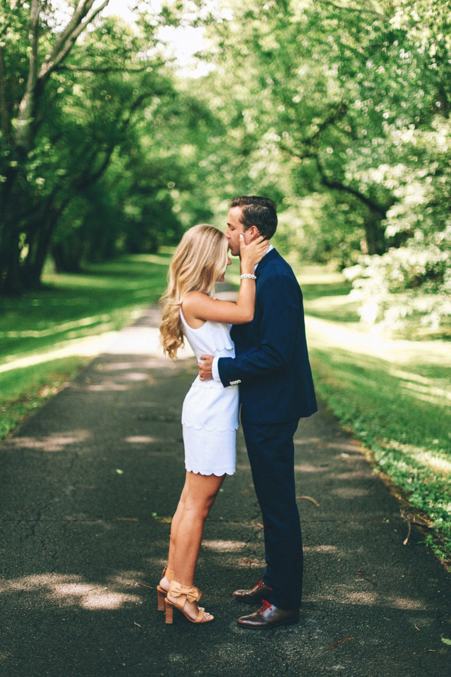 engagement-pose-kiss http://itgirlweddings.com/how-one-couple-nailed-their-engagement-session/