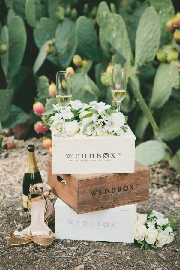 wedding-emergency-kit-champagne http://itgirlweddings.com/what-to-put-in-your-bridal-emergency-kit/