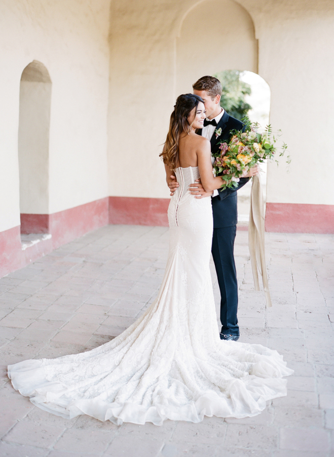 long-train-wedding-dress http://itgirlweddings.com/elopement-inspiration/