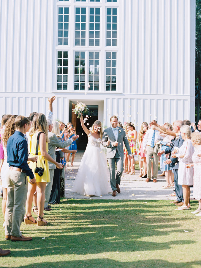 bride-and-groom-after-ceremony http://itgirlweddings.com/seaside-florida-wedding/
