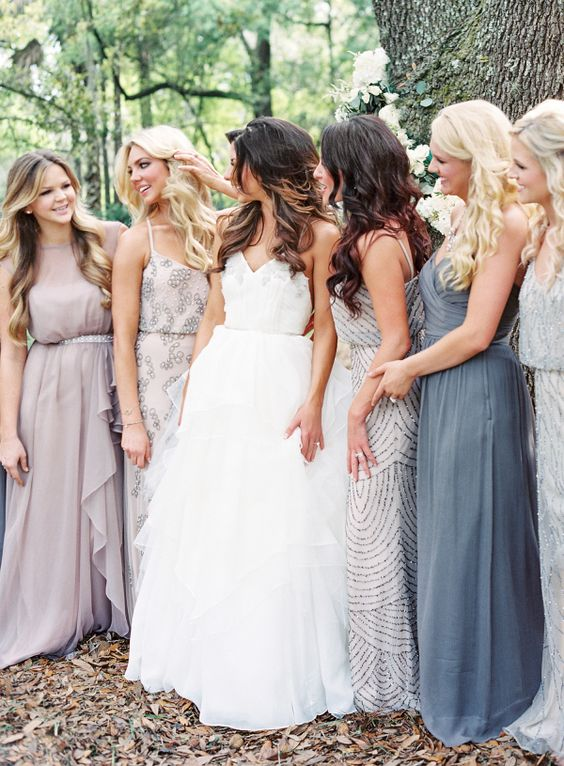 mismatched-bridesmaids-dresses http://itgirlweddings.com/pinterest-reveals-biggest-trends-weddings-year/