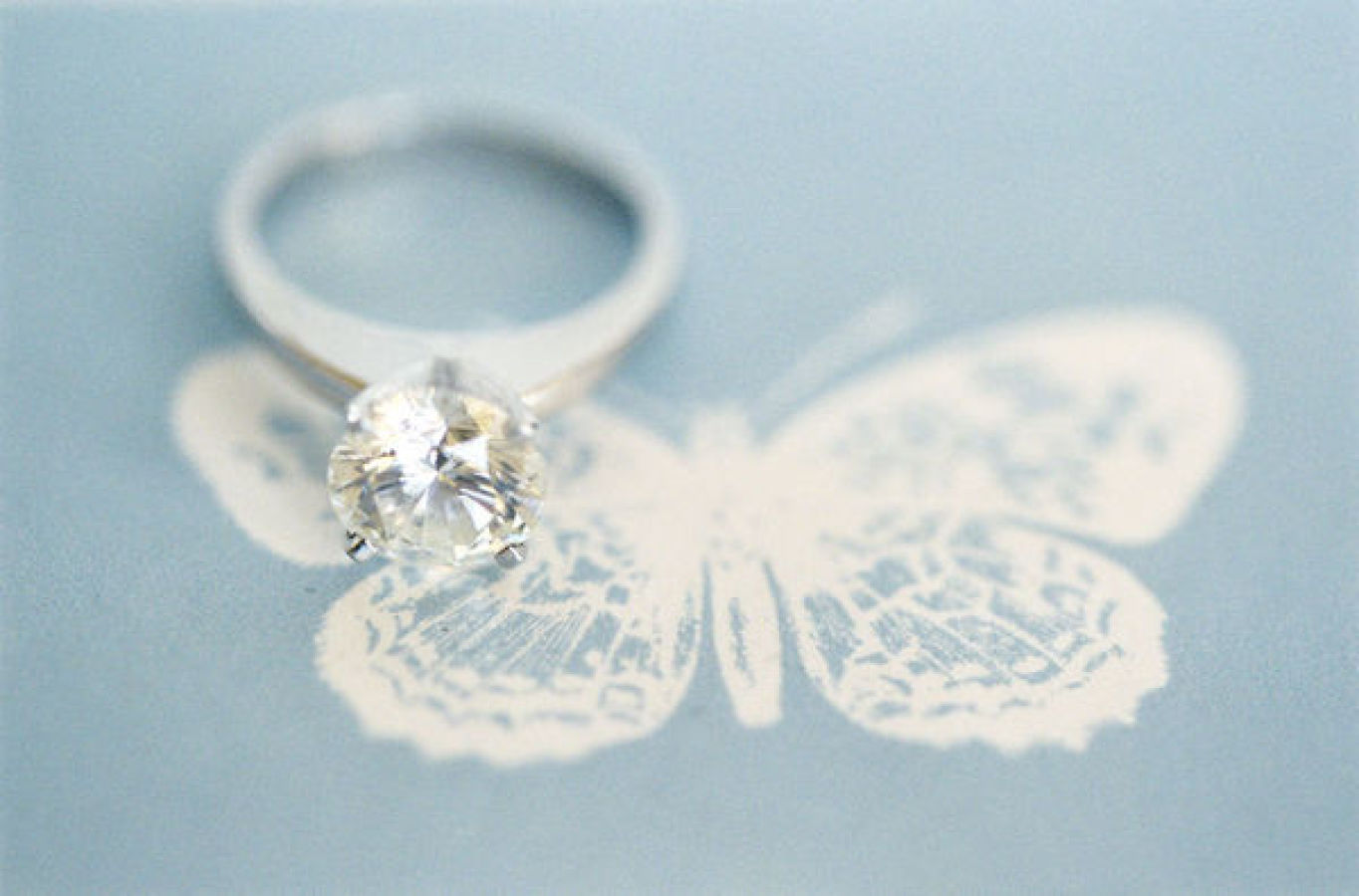 engagement ring on butterfly http://itgirlweddings.com/modern-napa-valley-wedding/