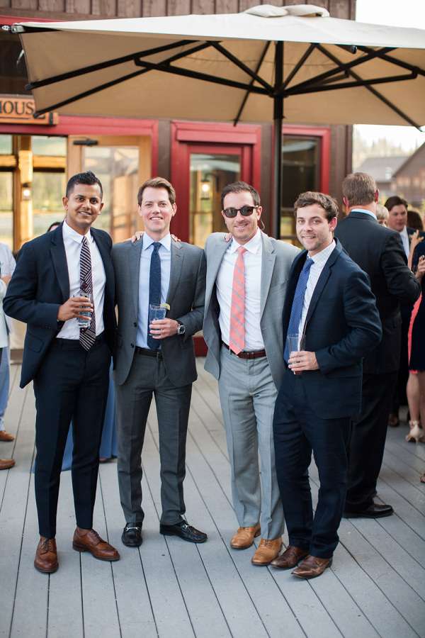 male wedding guests http://itgirlweddings.com/romantic-mountain-wedding/