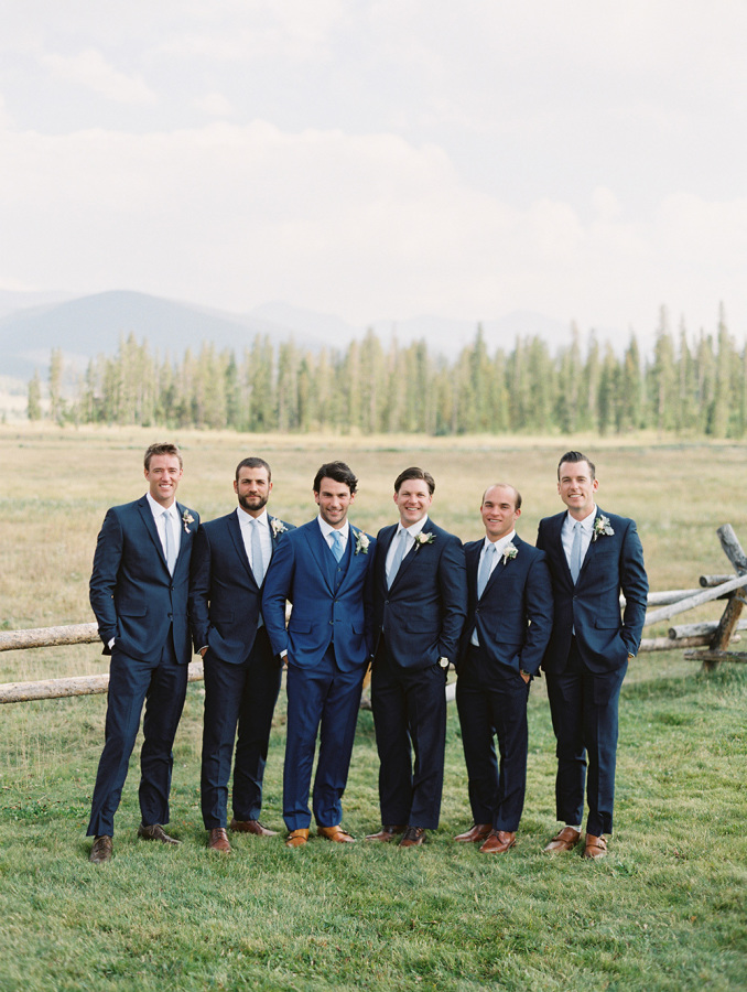 groomsmen at country wedding http://itgirlweddings.com/romantic-mountain-wedding/