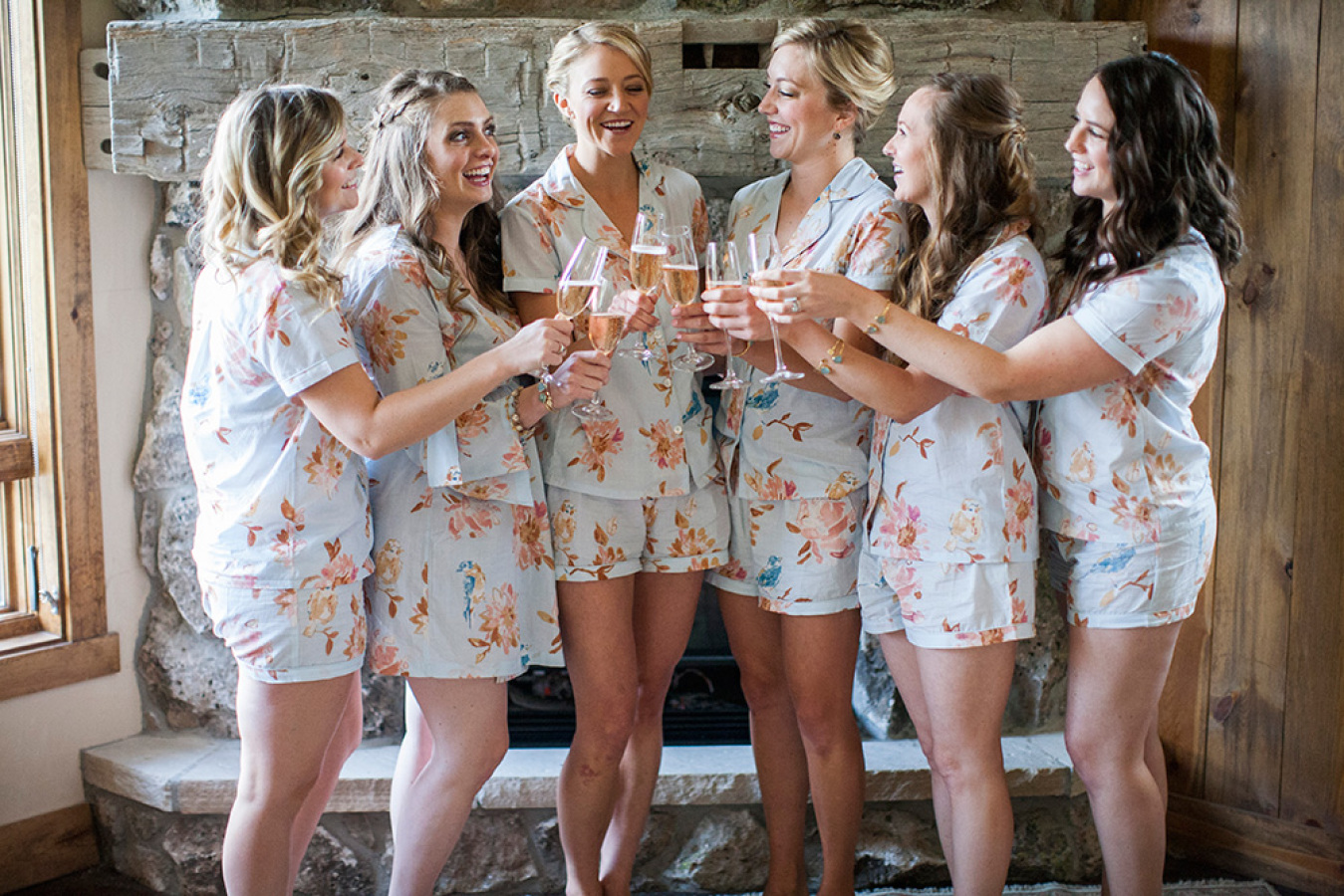 bridesmaids shortie sets http://itgirlweddings.com/romantic-mountain-wedding/