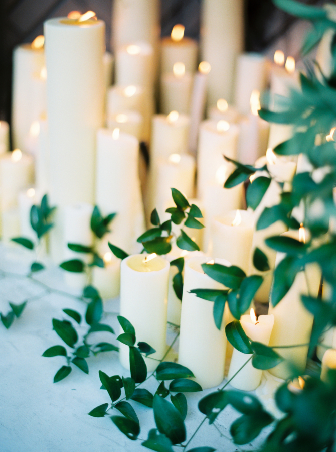 wedding candles with greenery http://itgirlweddings.com/timeless-traditional-style/