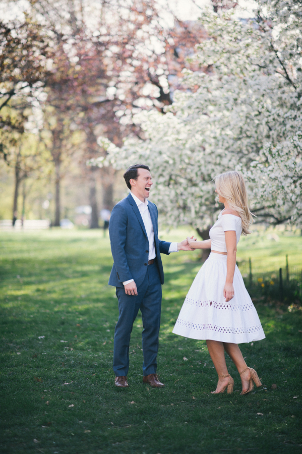 candid engagement session pose http://itgirlweddings.com/capturing-their-love-of-new-york/