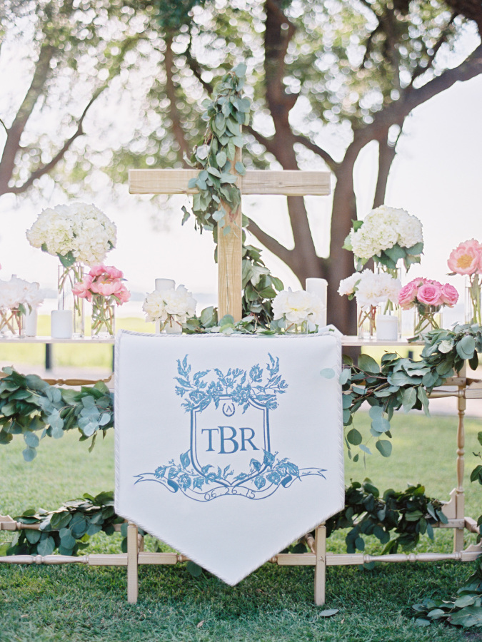 wedding custom logo http://itgirlweddings.com/southern-wedding-with-a-surprise-grand-exit/