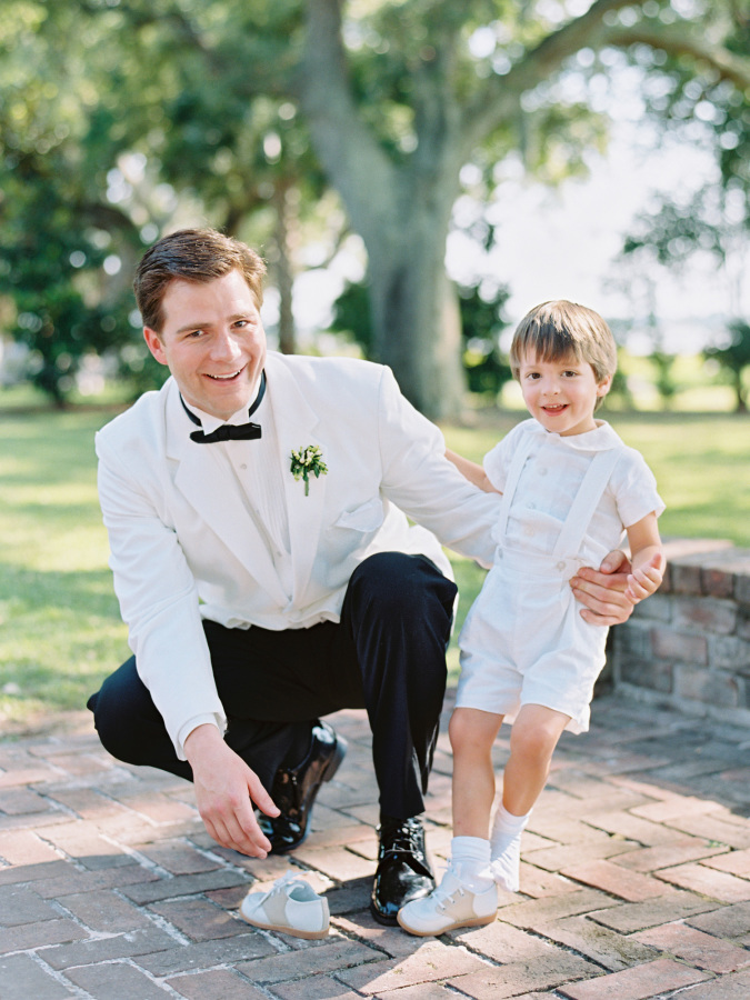 ring bearer outfit http://itgirlweddings.com/southern-wedding-with-a-surprise-grand-exit/