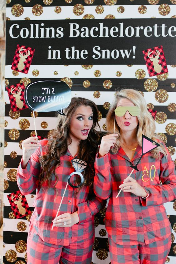 flannel-themed-bachelorette-party http://itgirlweddings.com/5-ways-save-money-bridesmaid/