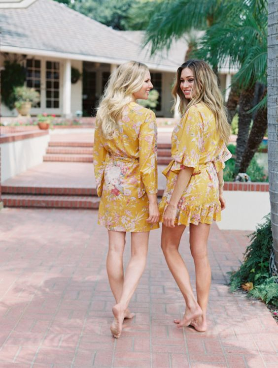 yellow-floral-robes http://itgirlweddings.com/new-collection-plum-pretty-sugar/